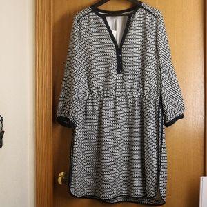 NWT Banana Republic Navy White Chain Dress 16